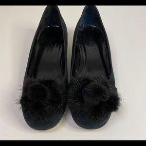 Zalo Black flats with fur